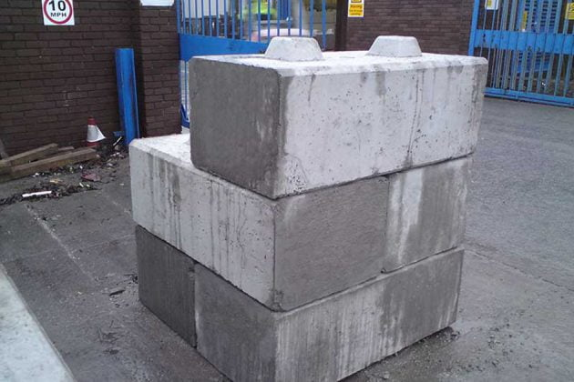 Concrete counterweight