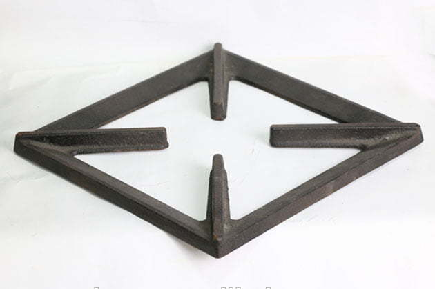 Square-shape pan support