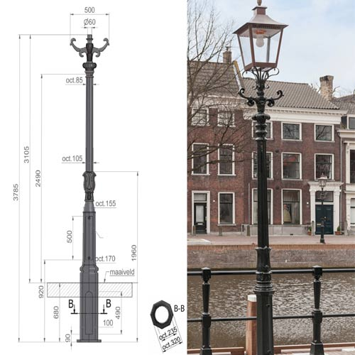 VIC LP14 lamp post