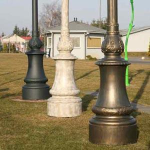 Cast iron Lamp post in Vietnam