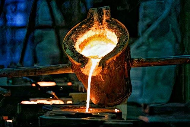 Melting furan resin casting