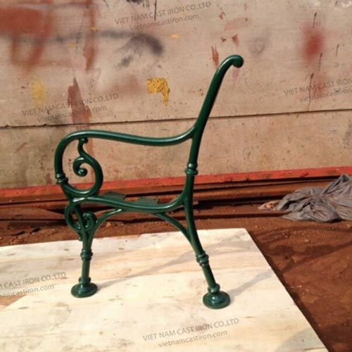 B01 Cast Iron Park Bench End