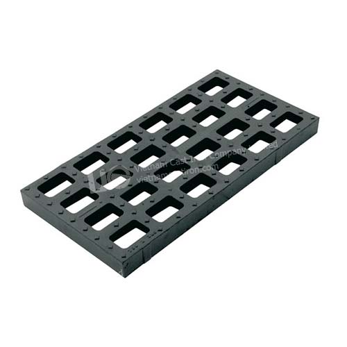 Ductile Iron Sewer Pattern Square Grate 750x380mm