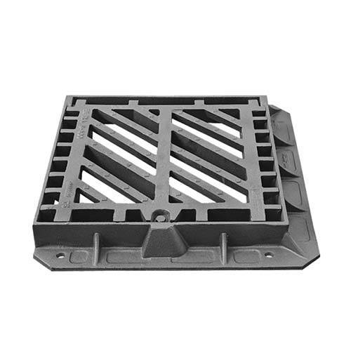 Hinged ductile iron traffic grating cover d400
