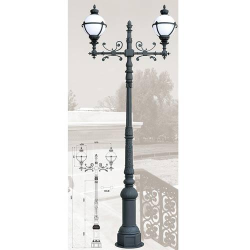 Antique Aluminum Alloy Outdoor Furniture Lamp Post