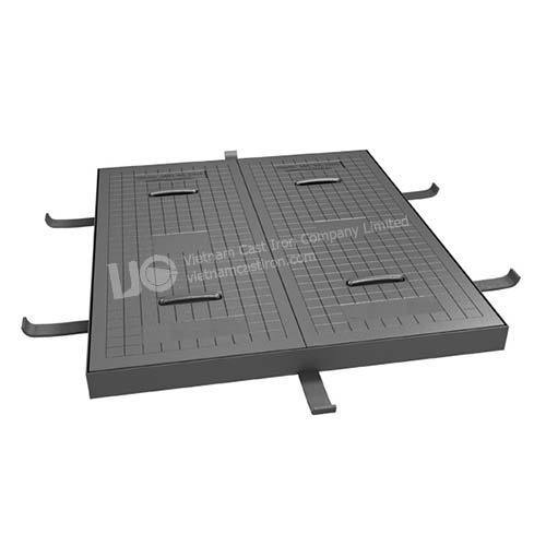 Telephone service square manhole plate and frame
