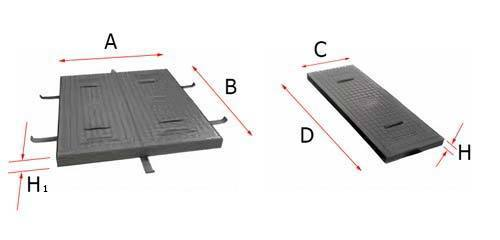 Dimension telephone utility service square manhole cover plate frame