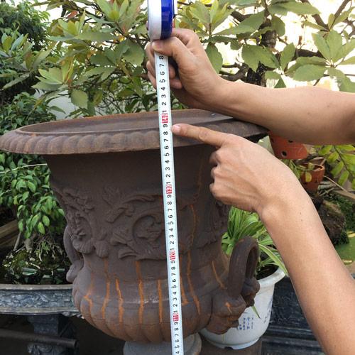 UP01 Antique Cast Iron Decorative Garden Urn Planter, Vase