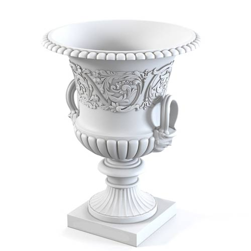 3d drawing urn planters