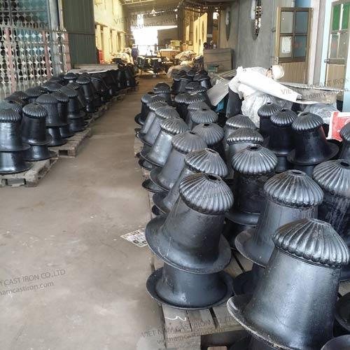 UP02 Anti Corrosion Cast Iron Patio Furniture Urn Planter, Flower Pot