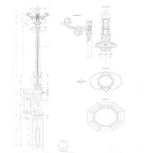 VIC LP30 lamp post draw