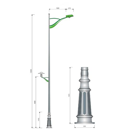 VIC LP34 lamp post
