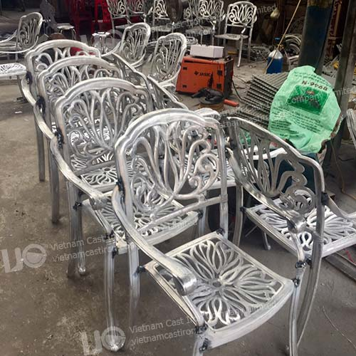 Aluminum Casting outdoor furniture dining chair