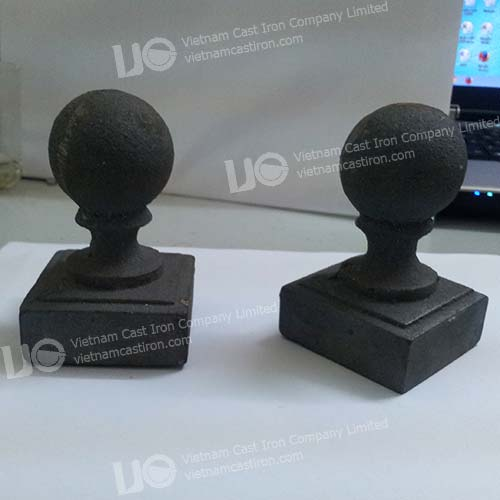 Cast iron Ball Finial Square Post Caps