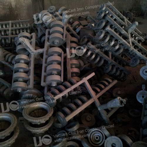 Cast iron belt pulley wheel supplier