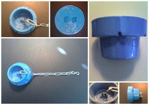 Cast iron Blue water valve box lids