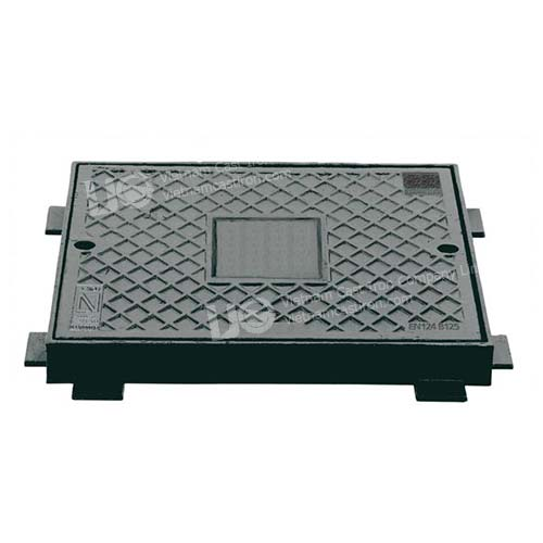 Ductile Iron square access manhole cover frame dimension 575x440mm b125 en124