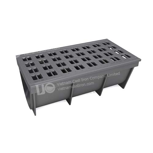 Ductile iron channel grating cover 980x550x395 D400