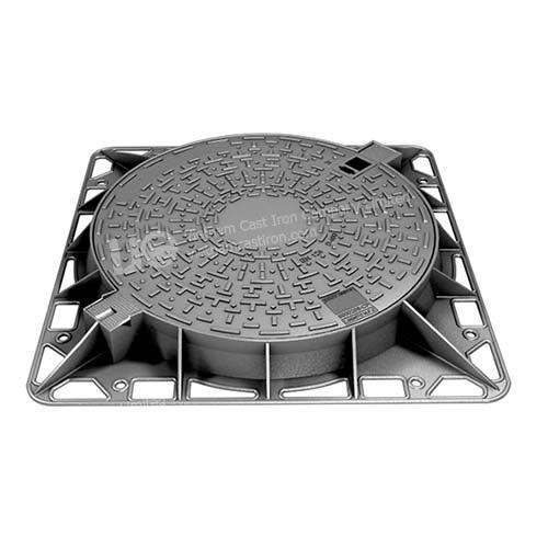 Ductile Iron Hinged Round Manhole Cover 1000mm