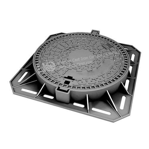 Ductile Iron Round Hinged Manhole Cover and Frame 850mm 645mm D400