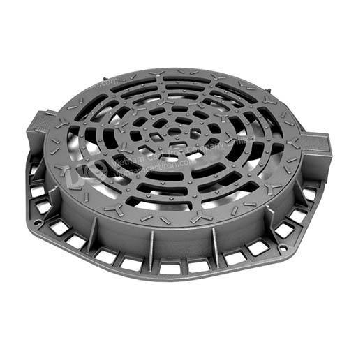 Ductile Iron Round Hinged Manhole Cover and Frame 850mm