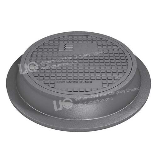 Ductile Iron Pavement water circular manhole cover Class D400