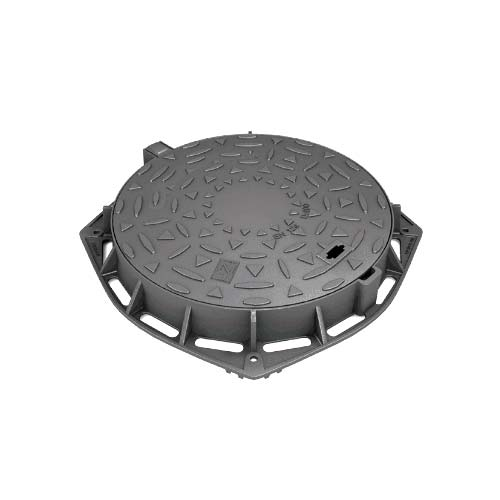 Ductile iron round hinged manhole cover 600mm d400 en124