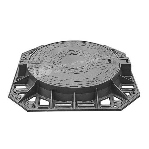 Ductile Iron Round Hinged manhole cover fram 850mm D400