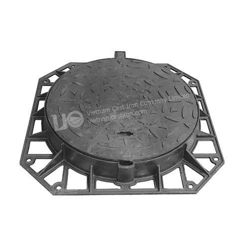 Hinged Ductile Iron Round Manhole Cover 825mm D400