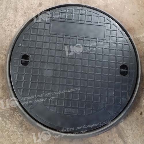 Cast iron Sewer Drain Cover Square Frame EN124 Class B125 04