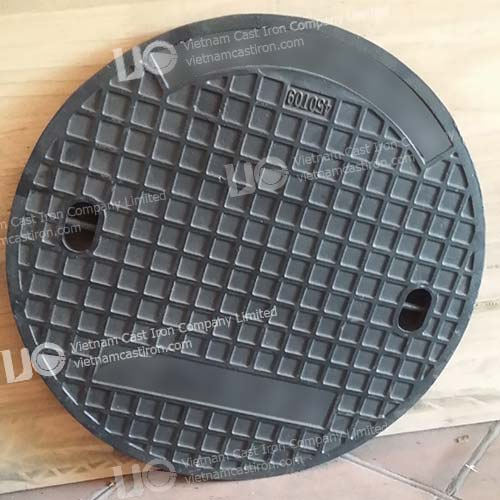Cast iron Sewer Drain Cover Square Frame EN124 Class B125 03