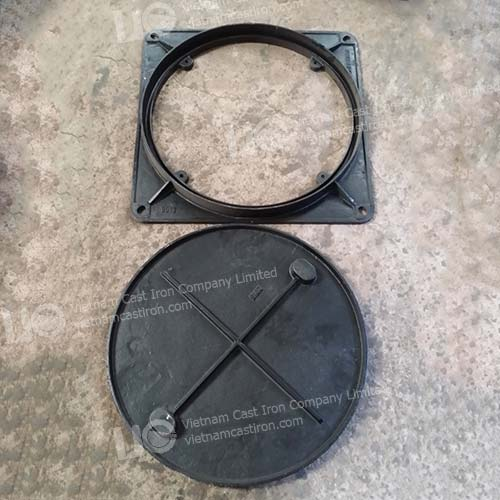 Cast iron Sewer Drain Cover Square Frame EN124 Class B125 01