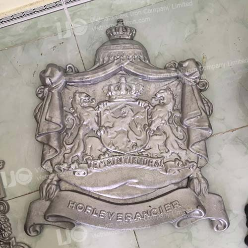 Netherlands Royal warrant seal cast aluminum sign