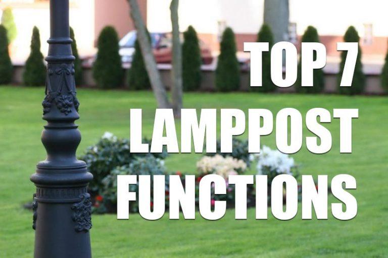 Top 7 functions of outdoor lamppost