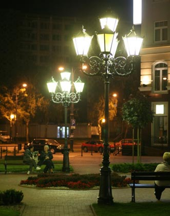 Lamp post benefit: providing the lighting