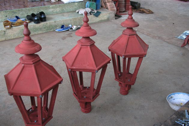 Cast iron Lamppost Top Lantern manufacturer