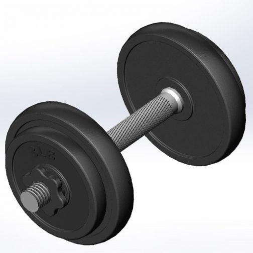 Cast iron Adjustable Dumbbell OEM with Contoured Handle