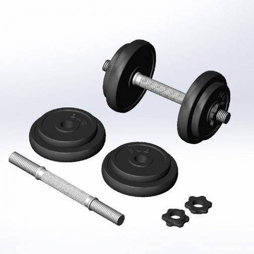 Cast iron Adjstable dumbbell set