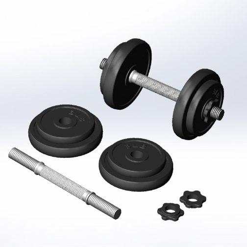 Cast iron Adjstable dumbbell set