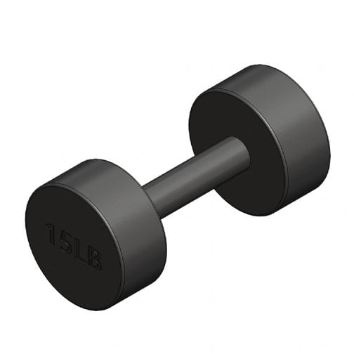 Cast iron Round fixed dumbbell 15lb