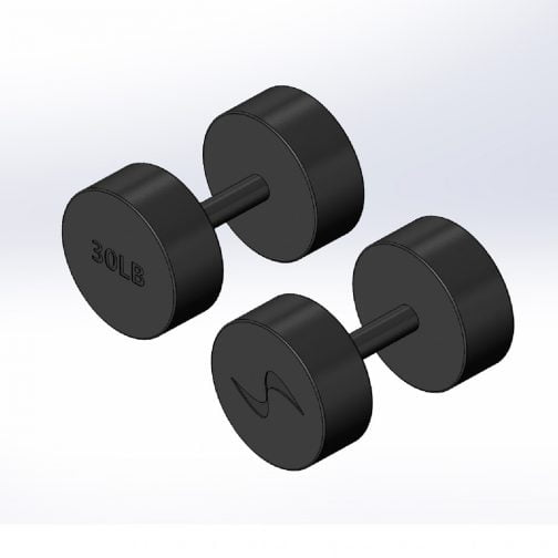 Cast iron Round fixed dumbbell 30lb