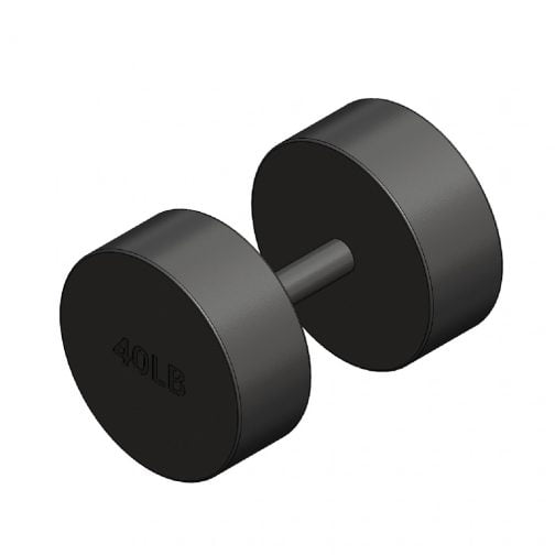 Cast iron Round fixed dumbbell 40lb