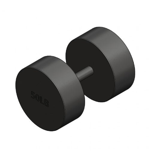 Cast iron Round fixed dumbbell 50lb