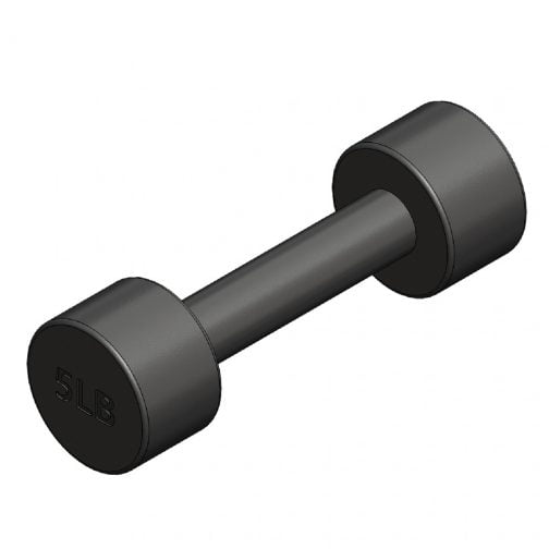 Cast iron Round fixed dumbbell 5lb