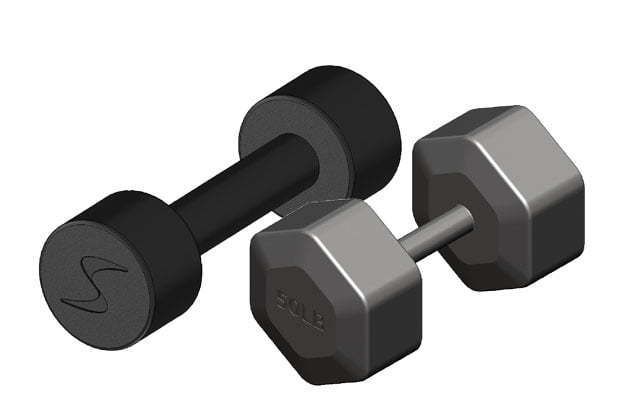 Choose the dumbbell according to shape