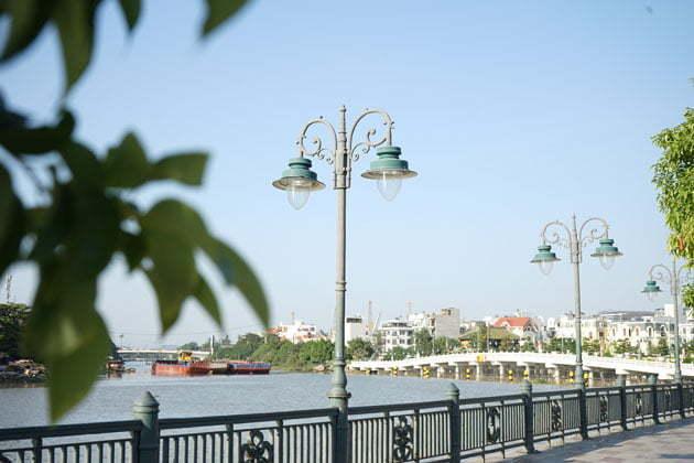 Landscape decoration river side