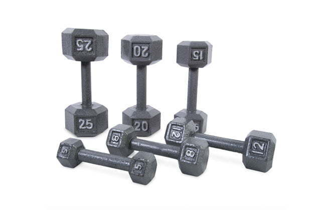 Cast iron dumbbell from CAP Barbell