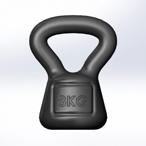 Cast iron kettlebell square 8kg