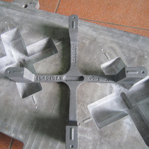 cast iron pan support grid production