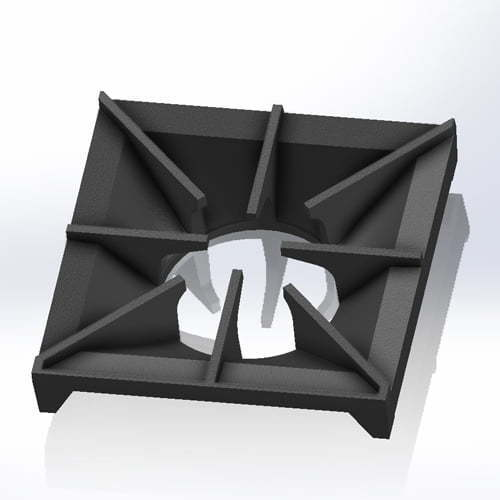 cast iron pan support square with 8 arms